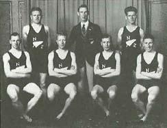 Alf Stevens & Jim Riddington (front row inside right, right respectively)